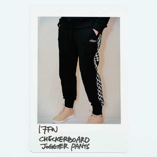 17 FW Checkerboard Jogger Pants