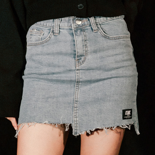 19 SS Unbalance Denim Skirt